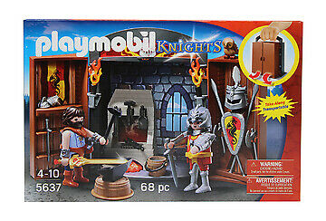 Neuware Playmobil Knights Ritterschmiede mit Spiel-Box 5637 Ritter Schmied Acc