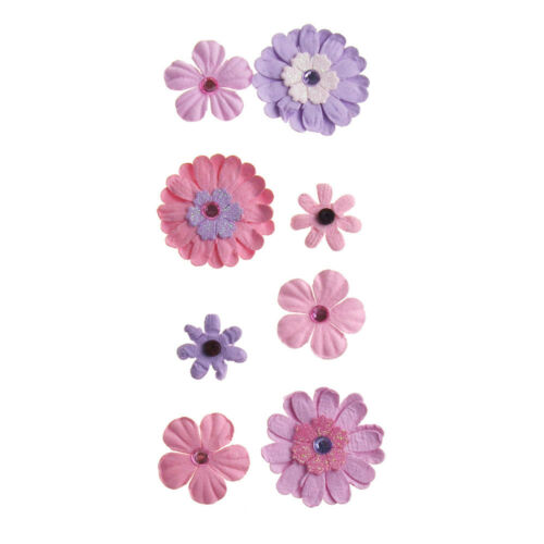 Self-Adhesive Assorted Paper Flowers 3D Embellishment 8-Count