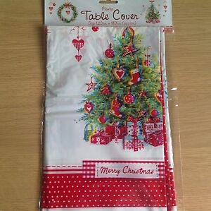 New Sealed Christmas Tree Plastic Table Cover Xmas Decorations