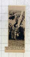 1919 Fastest Aeroplane In The World, Fiat, Flies Rome To London