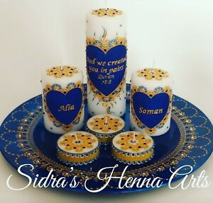 Personalized Henna candles