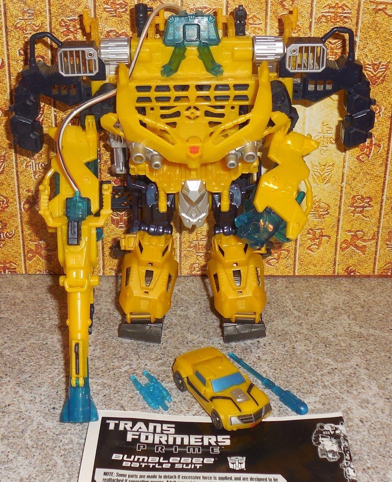 Transformers Prime BATTLE SUIT Complete Cyberverse Legion Set w Bumblebee