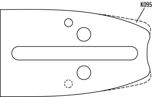 """Schneidgarnitur für Husqvarna Kettensäge 1 Schwert 43cm 4 Ketten 3//8/"""" 64 Treibgl"""