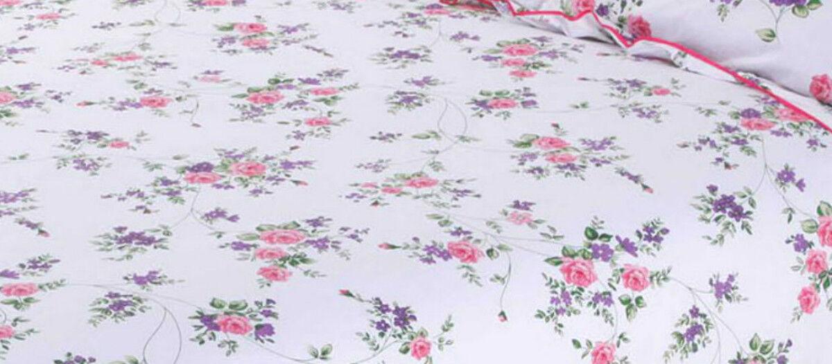 KING Dimensione 4 PC Set Completo Floreale Bianco Blu rosa rosa Lilla Fiori di rosa Blu Lusso a73c10
