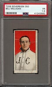 Rare 1909-11 T206 Bill Milligan Sovereign 350 Jersey City PSA 1.5