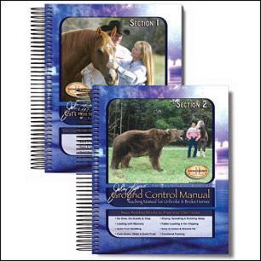 NEW Sealed John Lyons 2 volume Ground Control Manual set  Horse Training Books