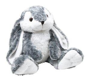 Peluche-034-Hoppel-034-coniglio-morbido-bianco-e-grigio-argento-cm-35x20x14