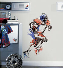 "FOOTBALL PLAYER wall stickers MURAL 9 decals 37"" men's boy's sports decor ball"