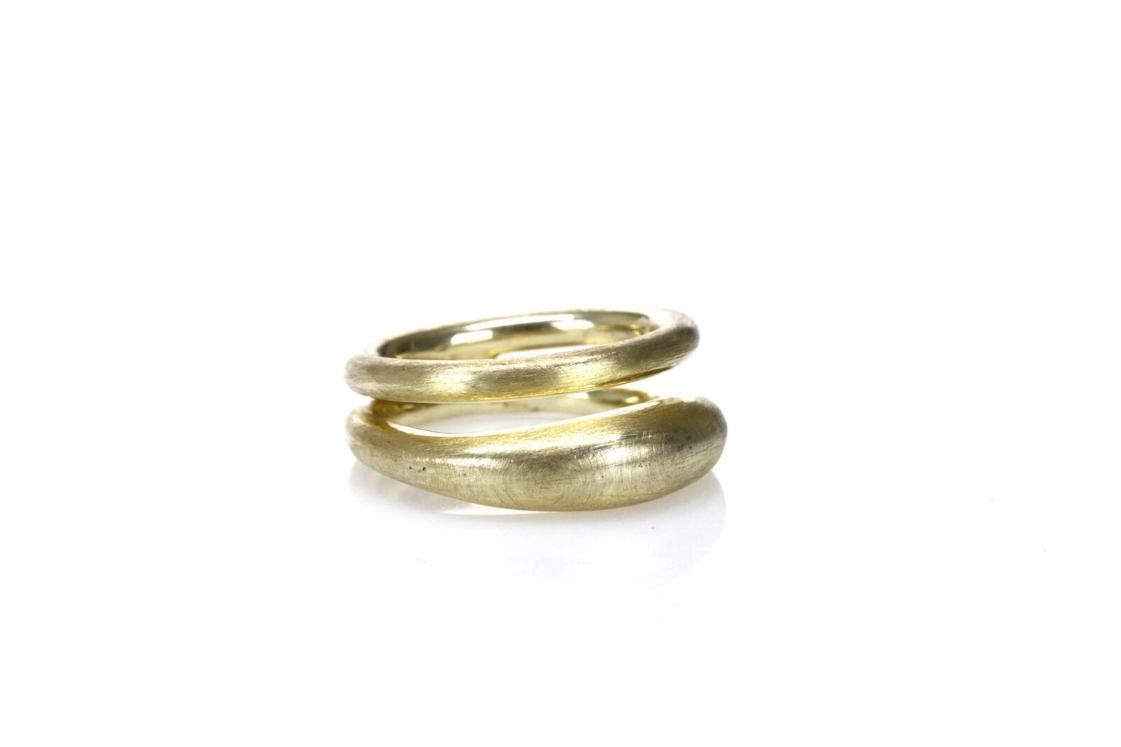 ADAMI & MARTUCCI 18k gold Vermeil Double Dune Ring 1141622