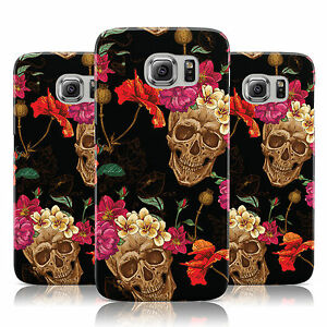 BLACK-SKULL-DESIGN-FLORAL-PATTERN-CASE-COVER-FOR-SAMSUNG-GALAXY-MOBILE-PHONES