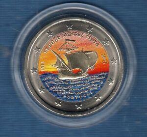 2 Euro Commémo Couleur Color Portugal 2011 Fernao Mendes Pinto SUP SPL Portugal