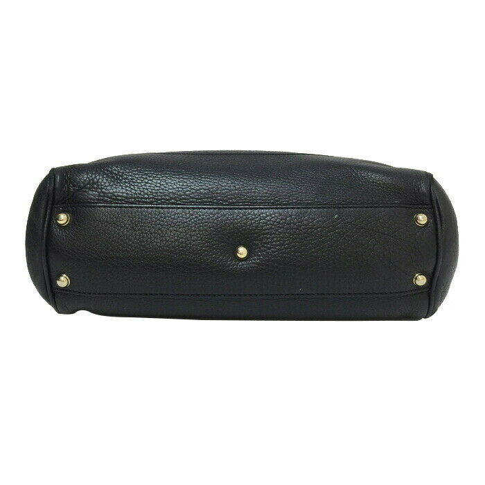 Auth GUCCI DIANA banboo Hand Bag 308360 Black - image 3