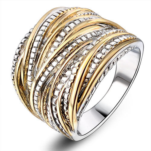 Punk Rock Statement Layers Ring 18K Gold Plated Gift Party Fashion Womens  R1643