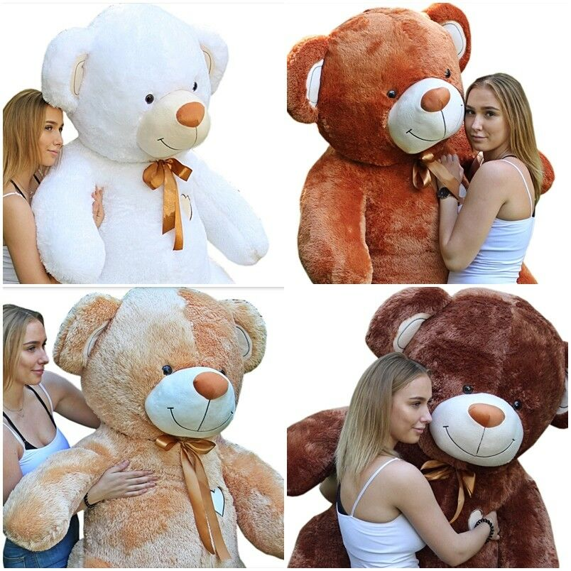 190 160 120 cm GIANT LARGE TEDDY BEAR huge soft plush toy GREAT GIFT 4 colours