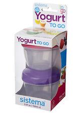 Sistema To Go Storage Pots Pack of 2 Yoghurt Baby Food Snacks Leftovers Lunch