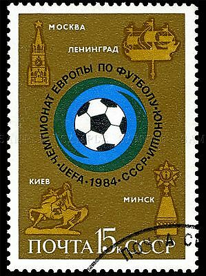 USSR VINTAGE POSTAGE STAMP SOCCER BALL FOOTBALL PHOTO ART PRINT POSTER BMP1784A