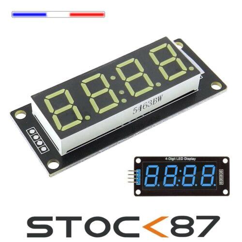 """TM1637 afficheur 4 chiffres LED 0,56/"""" 14,2mm rouge blanc bleu vert jaune"""