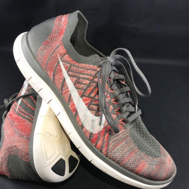 743fa9d7a186c Nike Men s Free 4.0 Flyknit Midnight Fog Crimson 717075-008 Shoes size 13