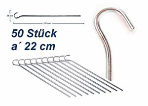 50 Stück 22cm Heringe Zeltheringe verzinkt Stahl Zeltnagel Erdnagel Zelthering