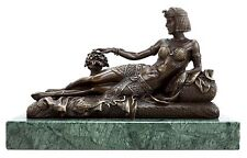Antike Mythologie - Ägyptische Pharaonin Kleopatra - Bronze Figur von J. Patoue