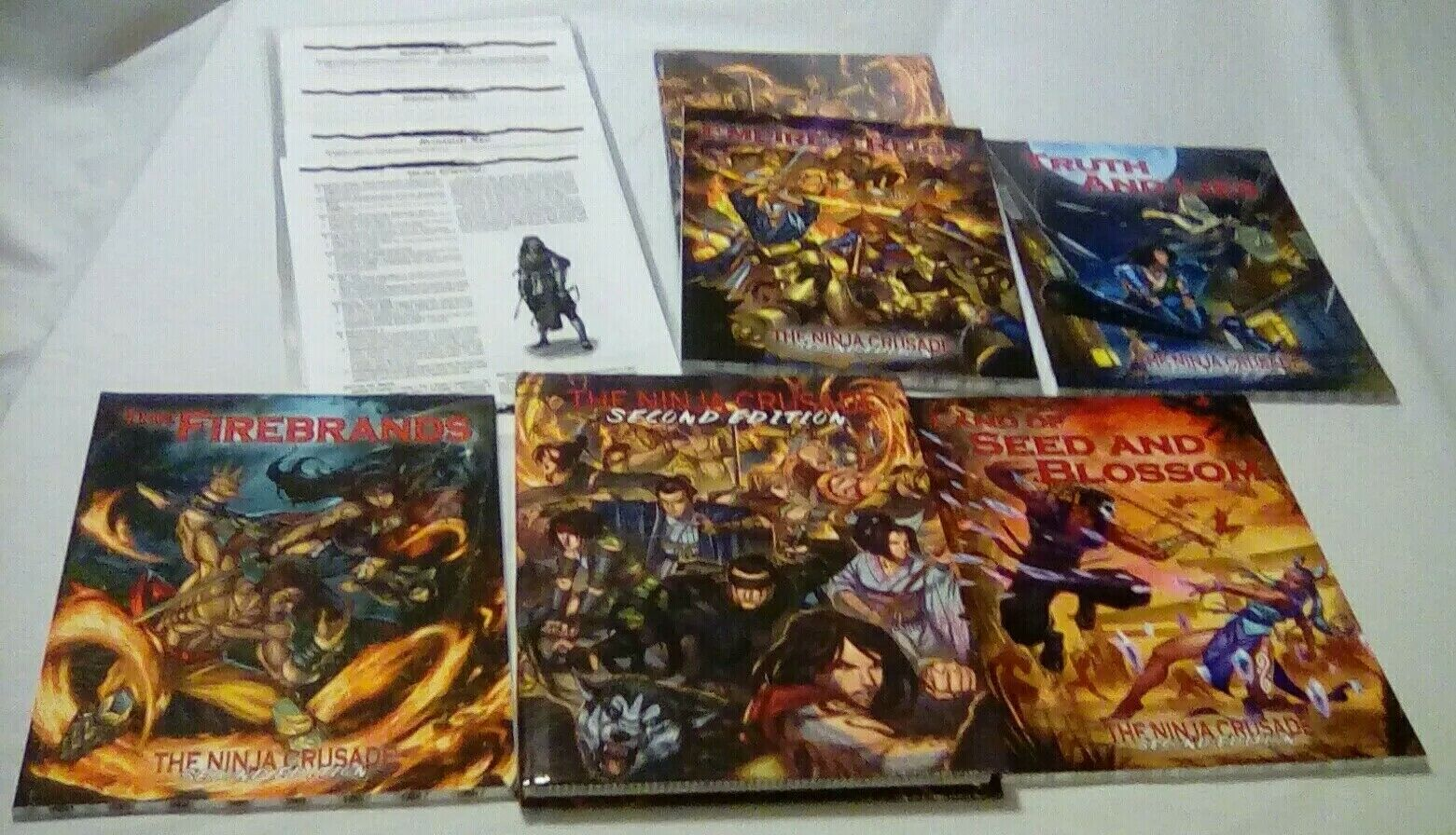 The Ninja Crusade 2nd Edition Bundle with Screen, 4 4 4 more books + 27 Ch. Sheets 90f30c