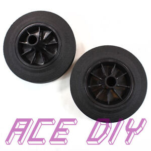 Ruedas-De-Repuesto-Wheelie-Bin-Negro-Cojin-neumatico-de-goma-Wheely-papeleras-de-rueda