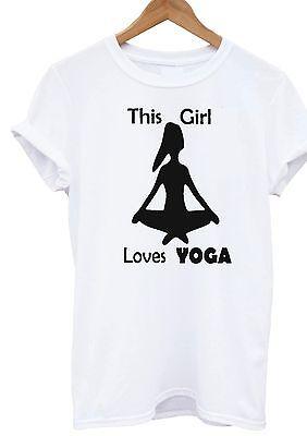 This Girl Loves Yoga t-shirt fashion peace boho festival top Women Kid sm xxxl