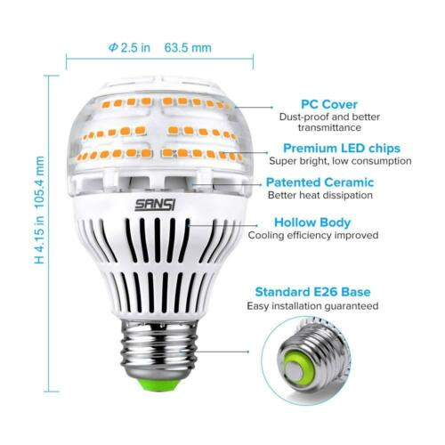 SANSI 17W 200W Equiv. Used Dimmable LED Light Bulb A19 3000K No-flicker Lamp