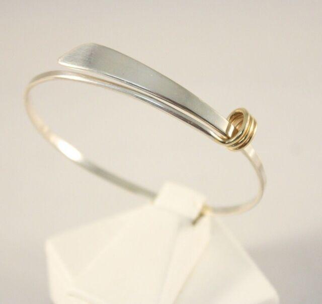Ed Levin Signature Modernist 14K Yellow Gold & Sterling Silver Bracelet