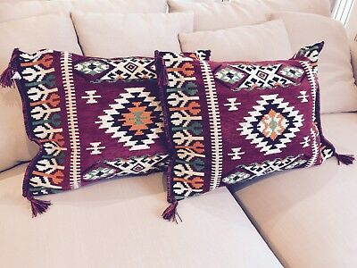 Bohemian Moroccan Exotic Mexican Boho Style Cushion Covers - Brand New
