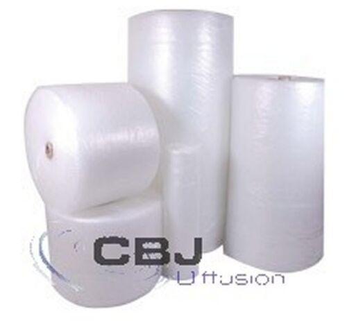Lots de 2 rouleaux d/'emballage papier film bulle 50 cm haut x 100 mètre de long
