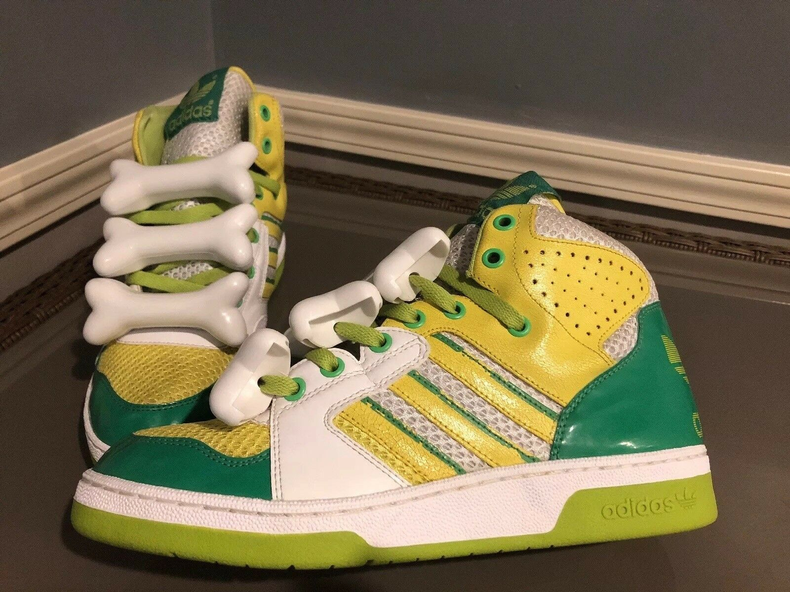 Adidas, jeremy scott, knochen tribut, größe 10, selten.