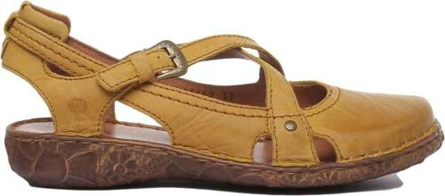 Josef Seibel Rosalie 13 Women Leather Matt Sandal In Mustard Size UK 3-8