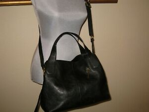 Details about Fossil Maya Satchel Shoulder bag Black