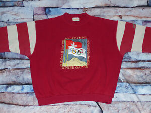 ADIDAS-OLYMPIA-PULLOVER-1928-ST-MORITZ-WINTER-GAMES-SUPPORT-ROT-GR-XL-TIP-TOP