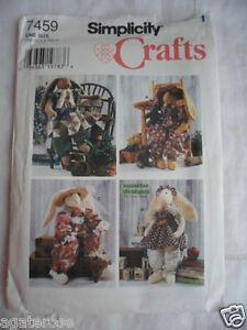 Simplicity-7459-Crafts-Sewing-un-cut-Pattern-Decorative-floppy-ear-Rabbit-uncut
