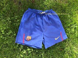 Fc Barcelona Barca Futbol Pantalones Cortos Hombres Nike Azul Ebay