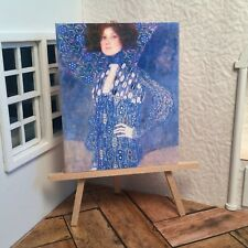 Miniature Rountree Doll/'s Cobbler BLUE Brocade Flats Shoes DOLLHOUSE 1//12