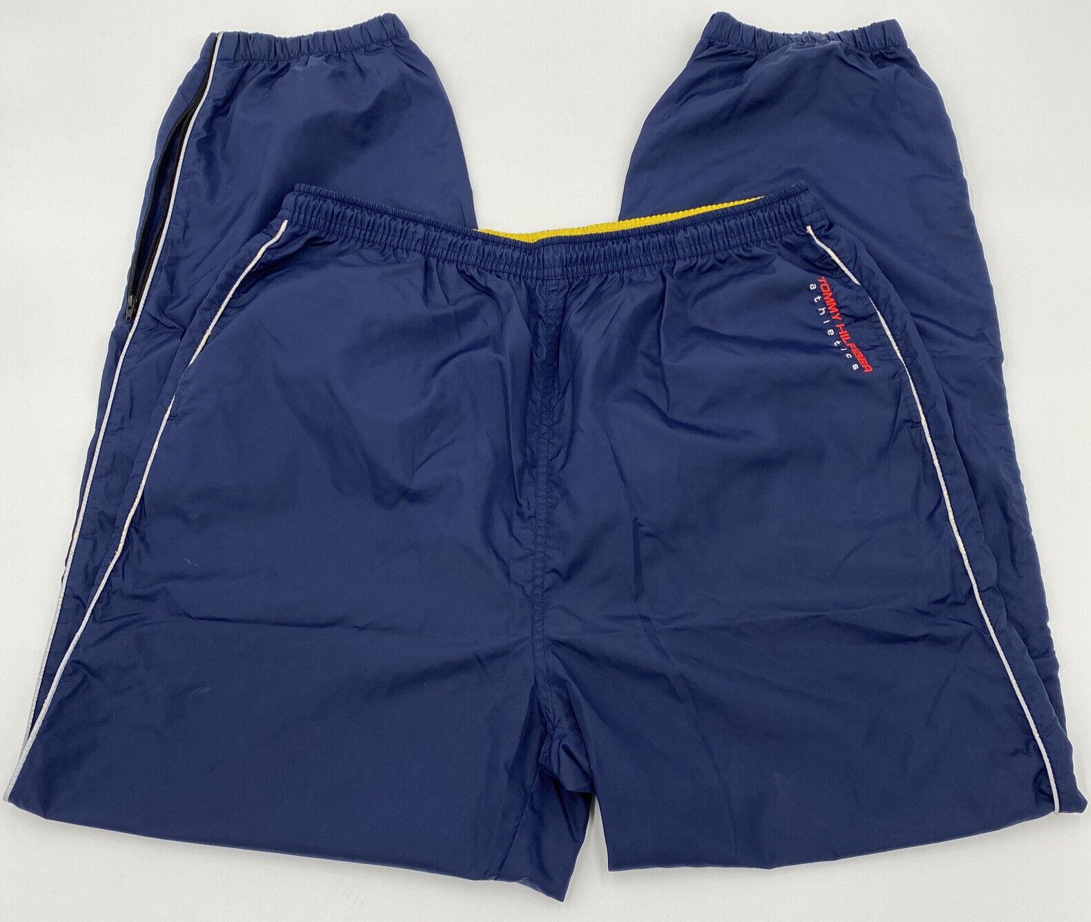 Vintage Men's Tommy Hilfiger Outdoors Windbreaker Pants Color Block Blue Size L