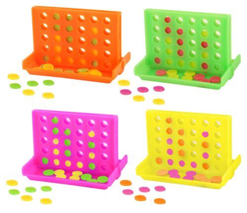 12 Neon Connect 4 Jeux-Pinata Jouet Butin//Fête Sac Remplissage Mariage//Enfants