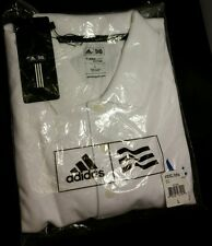 Brand new white Grey Goose Collection Adidas ClimaLite mens L polo shirt pique