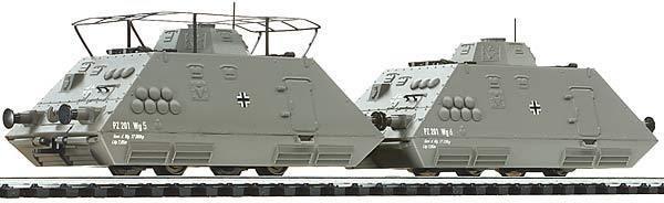 Liliput 136502 Panzerspähzug 3 mit Antrieb Wehrmacht EP II 2 tlg H0 DC  | Exquisite Verarbeitung