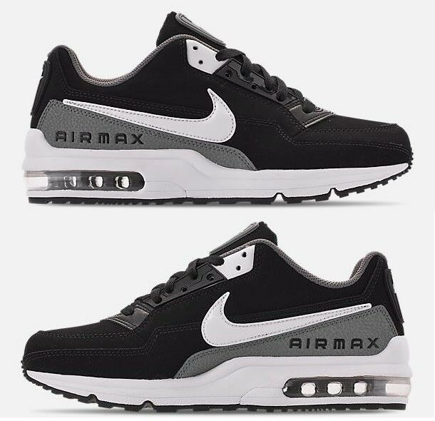 NIKE AIR MAX LTD 3 MEN's BLACK - WHITE - COOL GREY LEATHER RUNNING NEW  SIZE