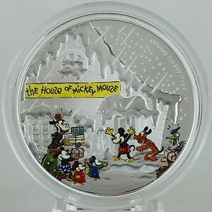 Disney $1 Dollar 1//2 oz Silver Proof Coin 2015 Season/'s Greetings Christmas Gift
