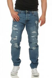 Original Mike Confort Fit Herren Blau Tuyau Am Jeans Jack Jones 5EAqPT