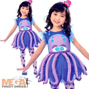 12bafc5d2 La imagen se está cargando Pulpo-Ninas-Vestido-de-fantasia-Mar-Animal-Para-