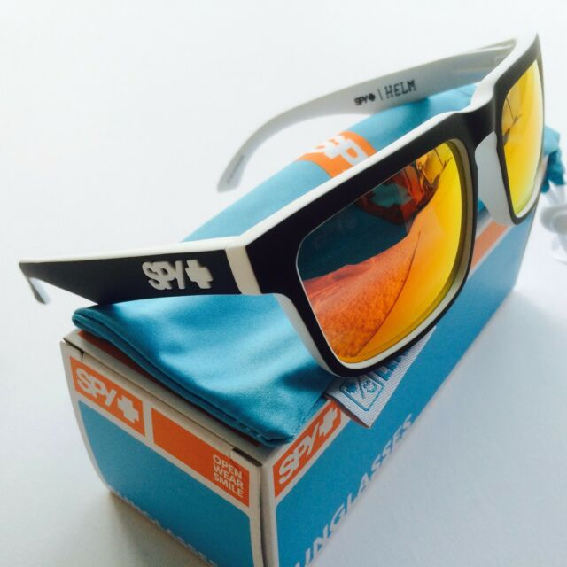 24b8464a4 Spy Optic Helm WHITEWALL Happy Grey Green Red Spectra Lens Sunglasses