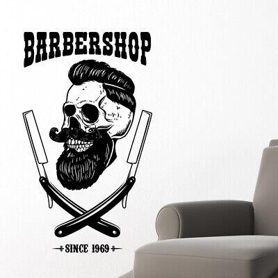 Tienda de peluquería Pared Adhesivo Calcomanía de cotización de gráficos Hipster Barba Art bb48