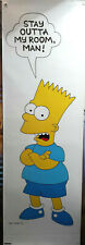 Vintage 1990s Bart Simpson- Star Out of My Room  5 Foot Door Poster- Rolled