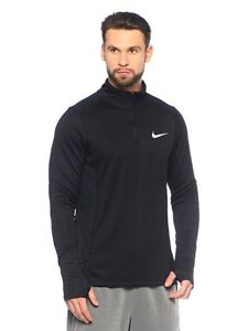 402b44f8 NEW $55 NIKE RUNNING Dri-FIT Core 1/2 Zip Pullover Black Reflective ...